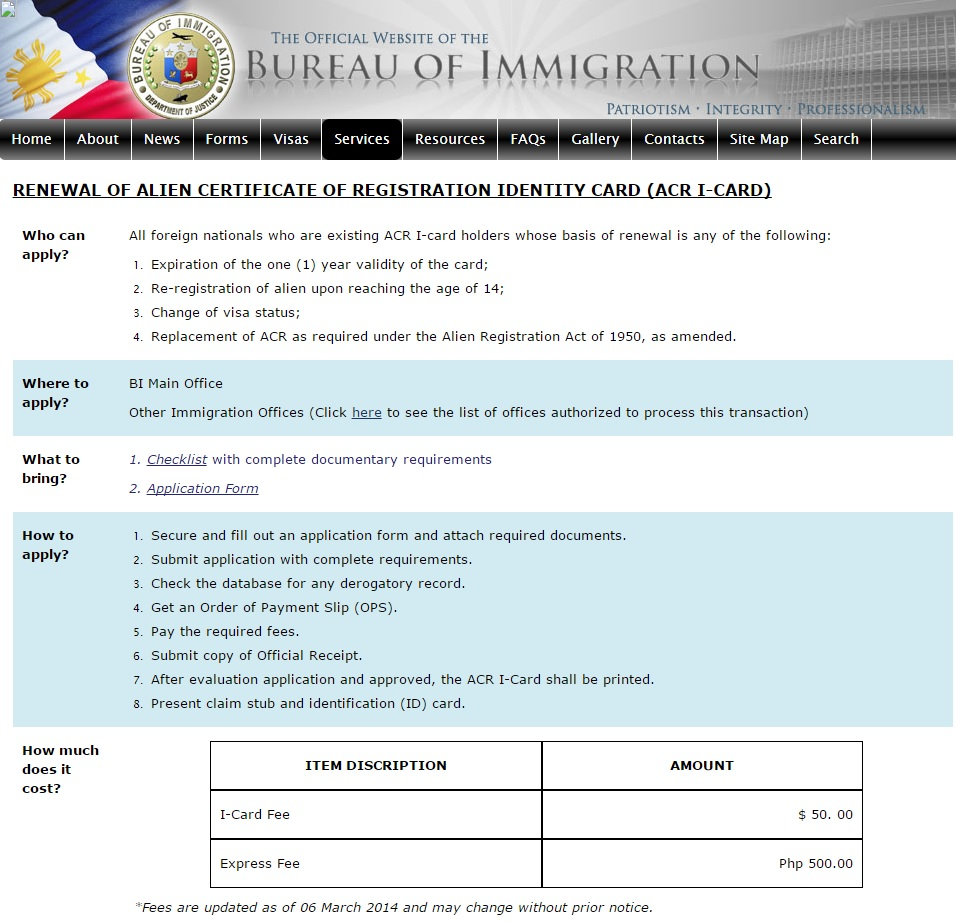 Alien certificate of registration philippines information acr i card renewal xflitez Image collections