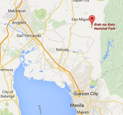 BiaknaBato National Park San Miguel Bulacan Luzon - Bulacan map philippines