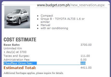 Rental Car Philippines >> Car Hire In Baguio Luzon Philippines Information