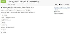 Caloocan 2 Bed 850,000 46sqm