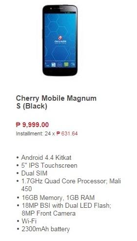 Cherry Magnum 18MP Camera Phone