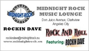 Luzon, Pampanga, Angeles City, Bar, Midnight Rock Banner