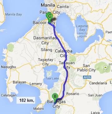 Map LasPinas Batangas LasPinas
