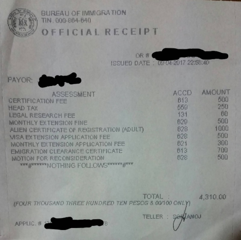 One Day Overstay Visa Fine
