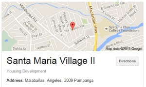 Santa Maria Village II Map according to Google